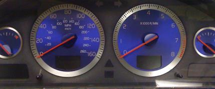 2004 Volvo S60r V70r Speedometer Cluster Blue Gauges