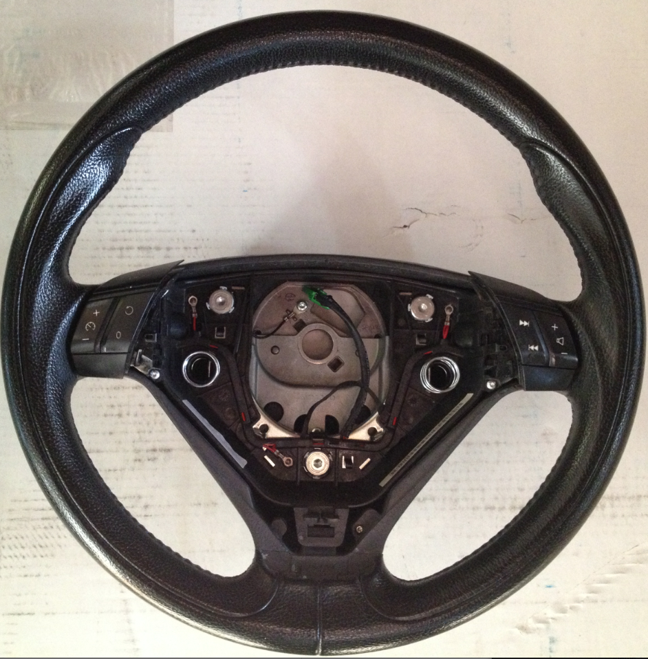 volvo s60r v70r steering wheel sport R type leather blue stitching
